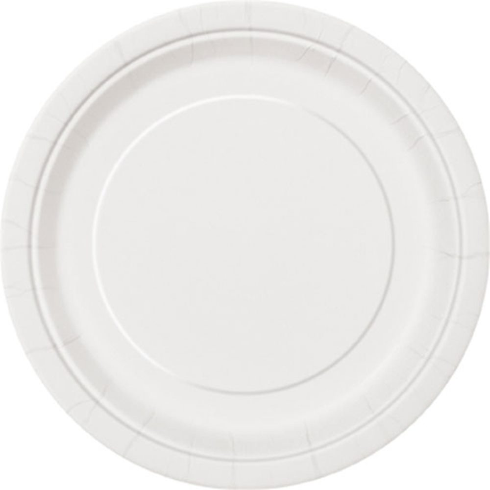 """Picture of 7"""" Bright White Round Plates"""