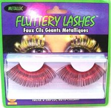 Picture of Metallic Eyelashes Red