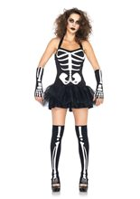 Picture of Sexy Glow in the Dark Skeleton Adult Womens Costume