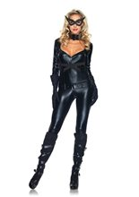 Picture of Sexy Cat Girl Jumpsuit Adult Womens Costume