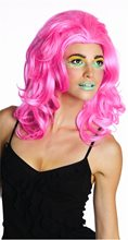 Picture of Neon Pink New Wave Wig