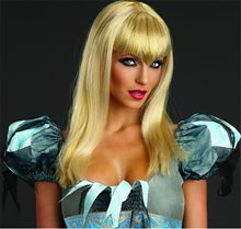 Picture of Blonde Glitter Vamp Wig