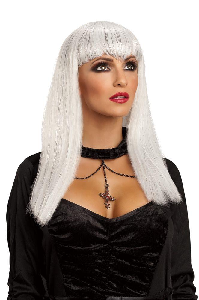 Picture of White Glitter Vampiress Wig