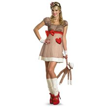 Picture of Ms. Sock Monkey Deluxe Adult Women Animal Costume
