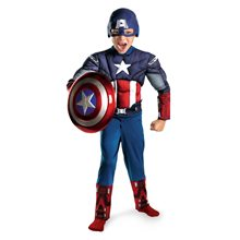Picture of Marvel The Avengers Captain America Muscle Child Costume