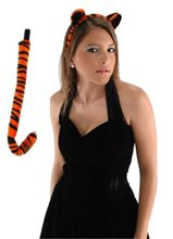 Picture of Tiger Ears & Tail Costume Set