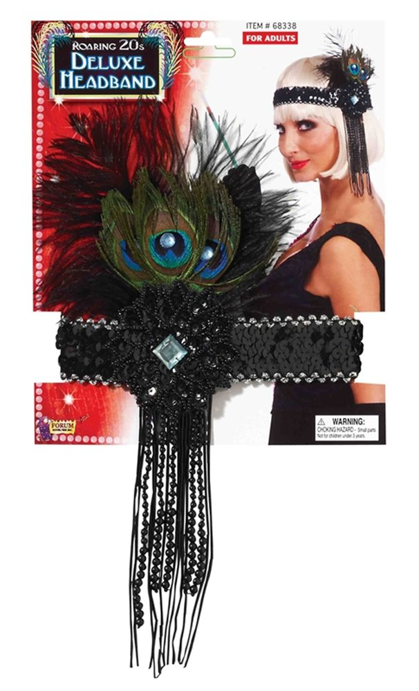 Picture of Flapper Deluxe Peacock Headband