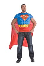Picture of Superman Adult Mens Muscle Shirt & Cape