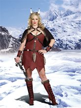 Picture of Ms. Viking Warrior Adult Womens Costume Plus Size