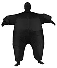 Picture of Black Inflatable Jumpsuit Adult Unisex Costume