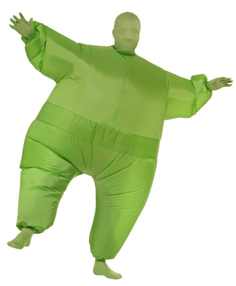 Picture of Green Inflatable Jumpsuit Adult Unisex Costume