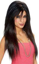 Picture of Black Sleek Adult Womens Wig