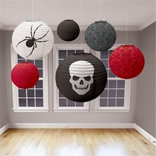 Picture of Red, Black & Grey Halloween Lanterns