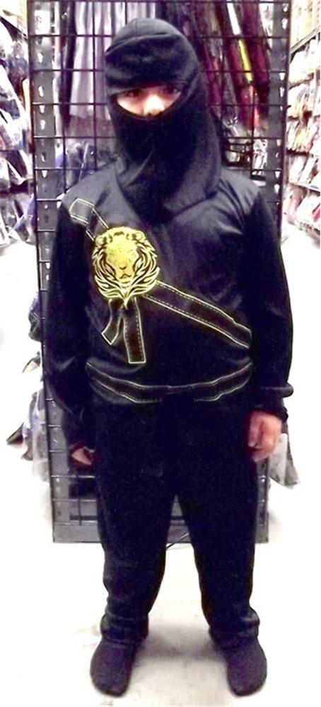 Picture of Black Ninja Avengers Child's Pajama Costume