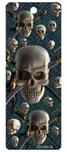 Picture of The Skull 3-D Bookmark with Tassel