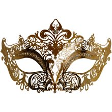 Picture of Gold Metal Venetian Half Eye Mask