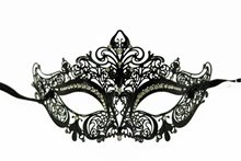 Picture of Black Metal Venetian Half Eye Mask