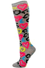 Picture of Neon Daze Patterned Adult Womens Knee Socks