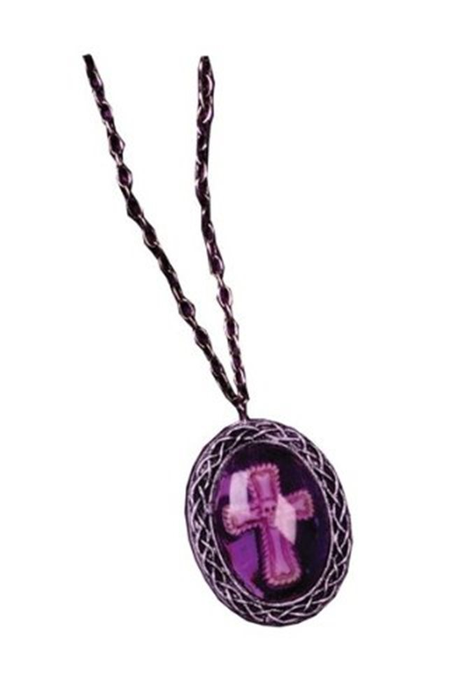 Picture of Purple Gothic Cross Necklace