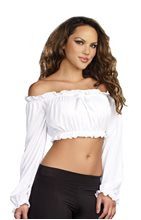 Picture of Ruffled Adult Womens Crop Top