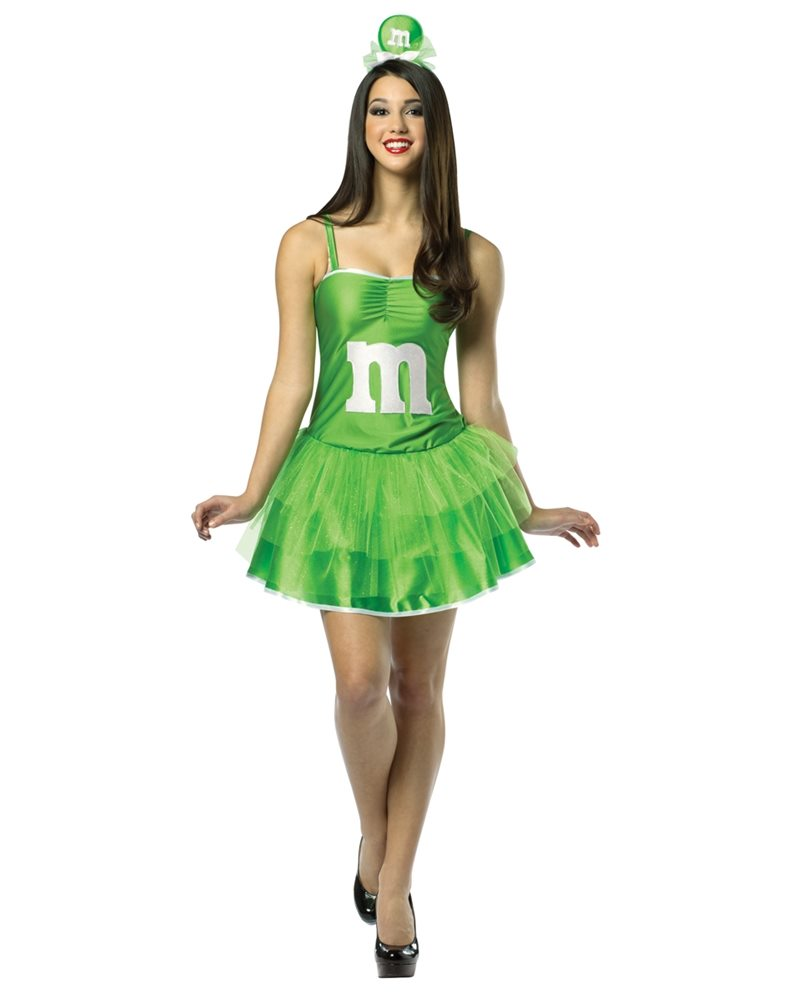 Picture of M&M Party Dress Green Adult Womens Costume