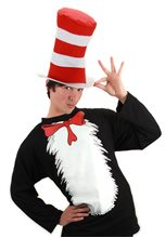Picture of Dr. Seuss Cat In The Hat Adult T-Shirt Costume