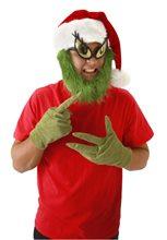 Picture of Grinch Hat with Beard Adult Male Hat Kit