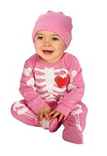 Picture of Pink Skeleton Baby Infant Costume