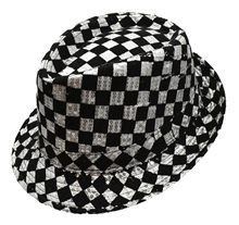 Picture of Checkered Sequin Fedora