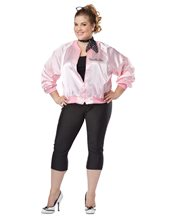 Picture of Pink Satin Ladies Adult Womens Plus Size Costume