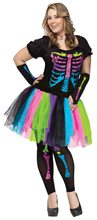 Picture of Funky Punk Bones Adult Womens Plus Size Costume