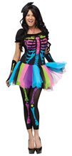 Picture of Funky Punk Bones Adult Womens Costume