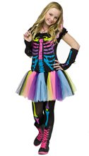 Picture of Funky Punk Bones Skeleton Teen Costume