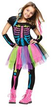 Picture of Funky Punk Bones Skeleton Child Costume
