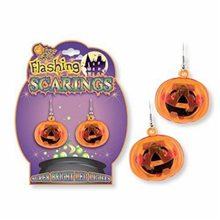 Picture of Pumpkin Flashing Earrings