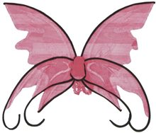 Picture of Pink Butterfly Adult Wings