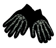 Picture of Black Bones Hand Gloves