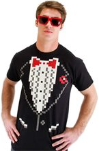 Picture of Pixel-8 Tuxedo Shirt Adult Mens Costume