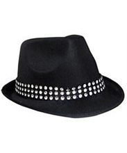 Picture of Black Fedora with Rhinestone Band