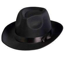 Picture of Black Satin Fedora Hat