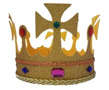 Picture of Gold Glitter Jeweled King's Crown