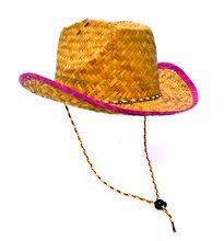 Picture of Cowboy Straw Hat with Head Strap