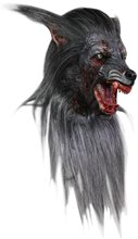 Picture of Black Wolf Deluxe Overhead Latex Mask