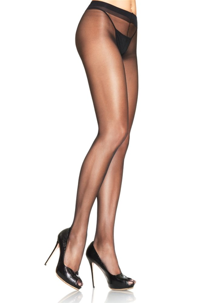 Picture of Black Sheer Waist Support Pantyhose