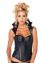 Picture of Faux Leather Vampire Corset