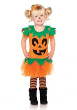 Picture of Pretty Pumpkin Dress Child Costume