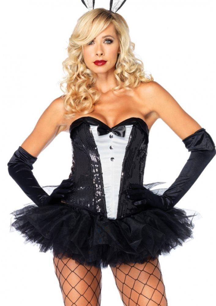 Picture of Sequin Tuxedo Corset Adult Costume