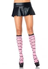Picture of Pink Mustache Knee Socks