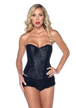 Picture of Sexy Black Sequin Adult Womens Corset