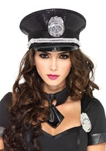 Picture of Sequin Police Officer Hat